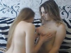 Gorgeous Lesbian Kissing And Fucking Each Other