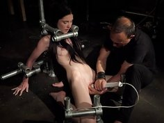 Bondage Teen in Hard BDSM punishment naughty Kinky