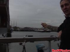 reallife amsterdam hooker nailing tourist closeup